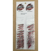 Red & White Bucktail Delight Streamer Flies