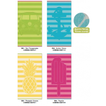 Oversized Sculpted Jacquard Striped Towels ~ 4 assorted