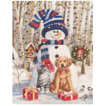 Christmas Micro Mink Throws ~ Snowman & Friends