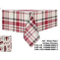 Christmas Printed Fabric Tablecloths - 3 sizes ~ Winter Plaid