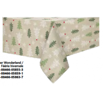 Christmas Printed Fabric Tablecloths - 3 sizes ~ Winter Wonderland