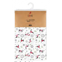 Christmas Printed Fabric Tablecloths - 3 sizes ~ Deer Family
