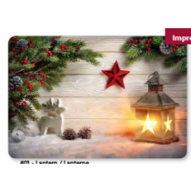 Christmas Photoreal Printed Placemats ~ Lantern
