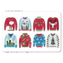 Christmas Photoreal Printed Placemats ~ Ugly Sweaters