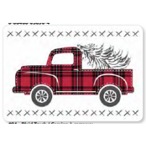 Christmas Photoreal Printed Placemats ~ Plaid Truck