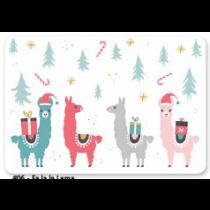 Christmas Photoreal Printed Placemats ~ Fa la la Lama