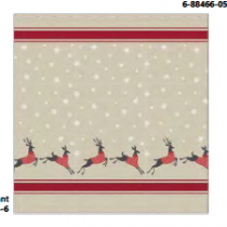 Christmas Water Resistant Shower Curtain with Hooks ~ Dancing Deer