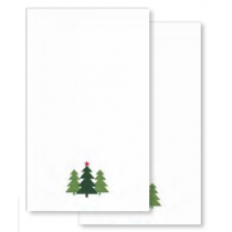 Christmas Embroidered Hand Towels - 2 per pack ~ White Trees