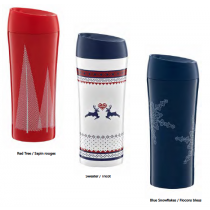 Christmas Thermal Travel Mugs ~ 3 assorted