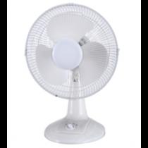 """12"""" Oscillating Desk Fan ~ White"""