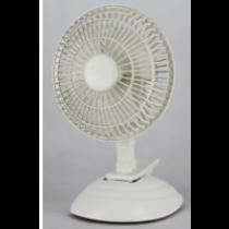 """6"""" Desk Fan w/Clip ~ White"""