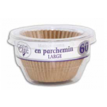 Chef Elite Parchment Baking Cups - Large ~ 60 per pack