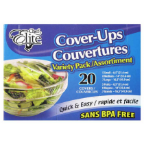 Chef Elite Bowl Cover-Ups - 5 Small, 8 Medium, 7 Large ~ 20 per box