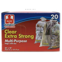Tuff Guy Extra Strong Multi-Purpose Clear Garbage Bags ~ 20 per box
