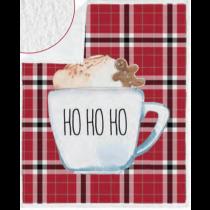 Christmas Photoreal Throws with Sherpa Back ~ Ho Ho Ho