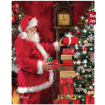 Christmas Micro Mink Throws ~ Santa Stacking Presents