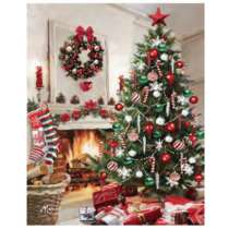 Christmas Micro Mink Throws ~ Christmas Tree & Fireplace