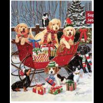 Christmas Micro Mink Throws ~ Santa's Helpers