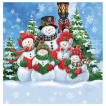 Christmas Micro Mink Throws ~ Snowman Carolers
