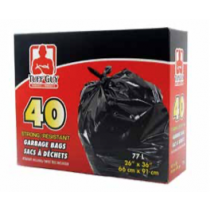 Tuff Guy Garbage Bags - Black ~ 40 per box