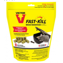 Victor Fast-Kill Mouse Rodenticide Refillable Bait Stations + 8 Bait Bars