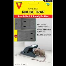 Victor Safe Set Pre-baited Mouse Trap ~ 2 per pack