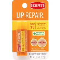 O'Keeffe's SPF35 Lip Repair w/Aloeboost Lip Balm - 4.2gr stick ~ 6 per display