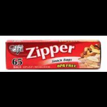 """Chef Elite Zipper Snack Size Bags - 6.5"""" x 3.5"""" ~ 65 per box"""