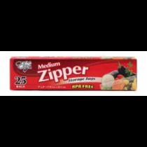 "Chef Elite Zipper Medium Size Bags - 7"" x 8"" ~ 25 per box"