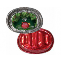 Chef Elite Holiday Roaster ~ Oval/Red