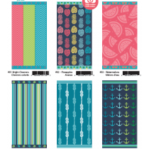 Jacquard Beach Towels ~ 6 assorted