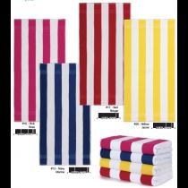 Cabana Stripes Terry Beach Towel ~ 4 assorted