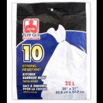 Tuff Guy Kitchen Garbage Bags - White ~ 10 per bag