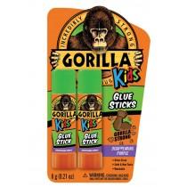 Gorilla Disappearing Purple Glue Sticks for Kids ~ 2 x 6gram sticks