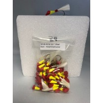 Shad Darts 1/8oz - Red Head, Chartruese Body with White Tail ~ 50 per bag