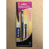 Selectum Mechanical Pencils - 0.7mm + 6 Leads & Eraser Tips