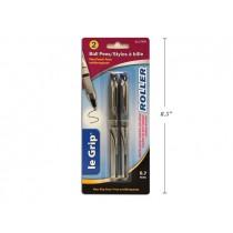 Selectum Roller Ball Pens - Blue + Black Ink ~ 2 per pack