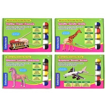 Selectum Make Your Own 3D Wooden Puzzle ~ 4 assorted
