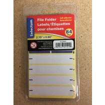 Selectum File Folder Labels ~ 84 pieces