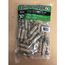 Paper Coin Wrappers - 10 Cent ~ 36 per bag