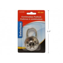 Selectum Stainless Steel Combination Padlock ~ 45mm