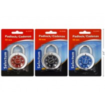 Selectum Combination Padlock, Colored ~ 50mm