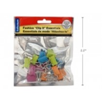 "Selectum Colored Binder Clips - 3/4"" ~ 15 per pack"