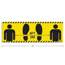 """Physical Distancing Adhesive Flood Decal - Non Slip ~ 6"""" x 18"""""""