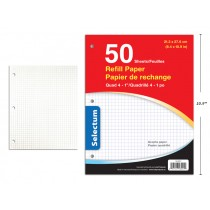 Selectum Graph Paper - 4-to1 Quad  ~ 50 sheets/pack