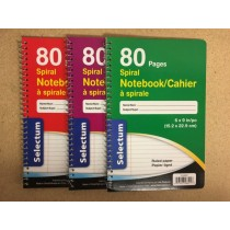 "Selectum Coil Notebook, 6"" x 9"" ~ 80 pages"