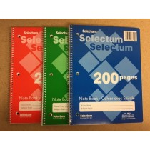 "Selectum Coil Notebook, 8"" x 10.5"" ~ 200 pages"