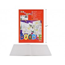 "White Newsprint Doodle Pad - 60 sheets ~ 9"" x 12"""