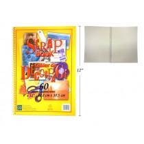 """Selectum Coiled Scrap Book - 9"""" x 12"""" ~ 60 pages"""