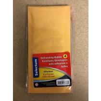"Kraft Bubble Envelopes 4"" x 9"" - Peel N Seal ~ 4 per pack"